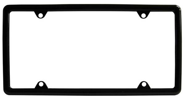 Bilde av License Plate Frame - Black Plastic