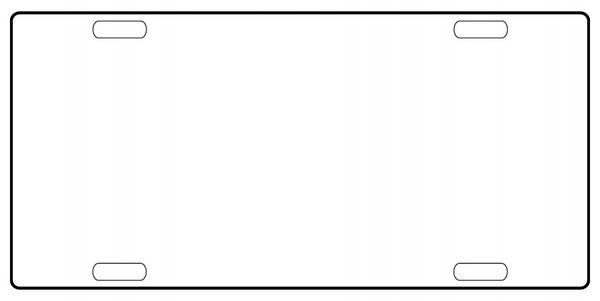 Bilde av License Plate Skilt med Egen Tekst/Bilde