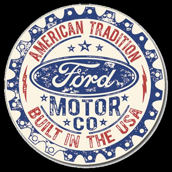 Bilde av Ford Built in USA Round Small