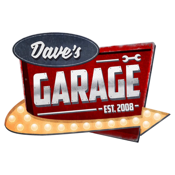Bilde av Garage Skilt - Personlig