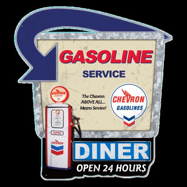 Bilde av Chevron Gasoline Service Diecut