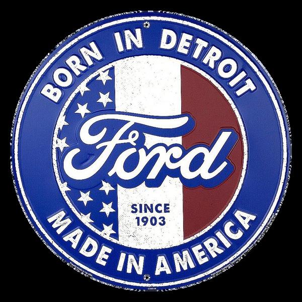 Bilde av Ford Born in Detroit Round Small