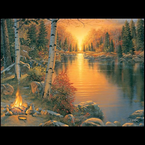 Bilde av Campfire at Sunset
