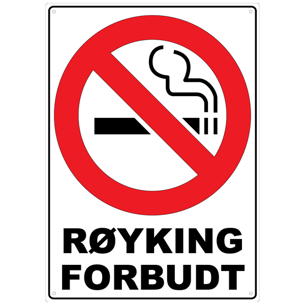 Bilde av Røyking Forbudt A3