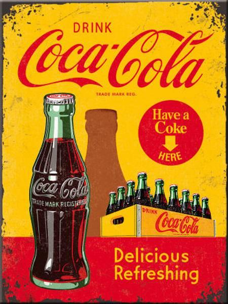 Bilde av Coca-Cola In Bottles Yellow